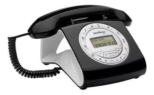 Telefone retro c/ fio c/identificador viva voz tc 8312 pt