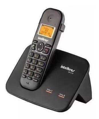 Telefone s/ fio 2 linhas intelbras id chamada aceita ramal