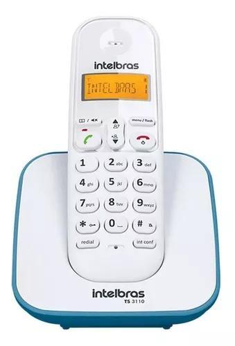 Telefone s/ fio com identificador chamadas intelbras ts3110