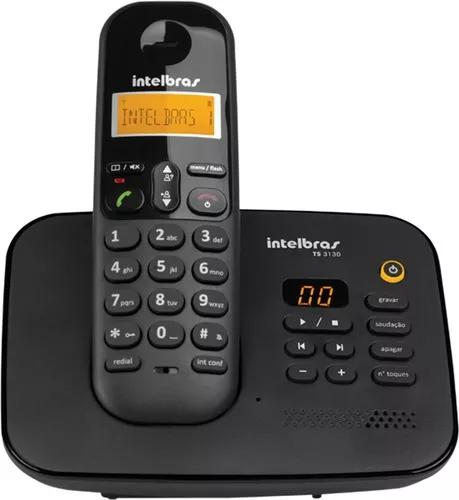 Telefone s/ fio intelbras ts 3130 secretaria eletronica +nfe