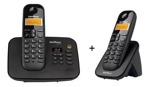 Telefone s/ fio intelbras ts3130 secr. eletronica + 1 ramal