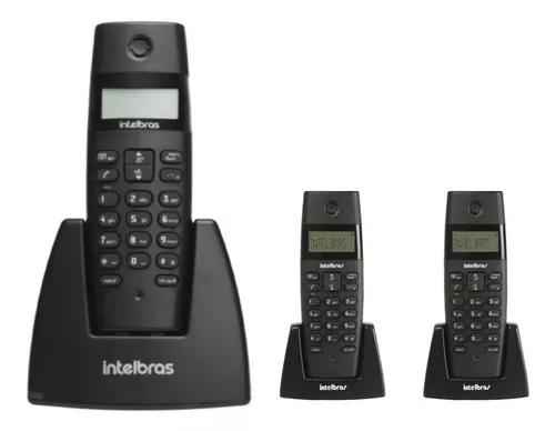 Telefone s/ fio intelbras ts40id dect6.0 c/ 2 ramais s
