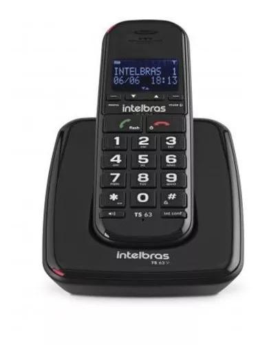 Telefone S/ Fio P/ Idosos C/ Id De Chamadas Viva-voz Ts 63 V