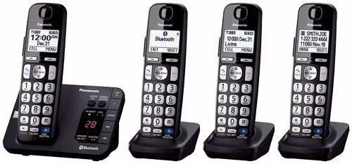 Telefone s/ fio panasonic 4 bases + 4 transformadores 220v