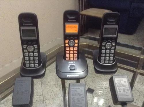 Telefone s/ fio panasonic dect kx- tg4013 la + 2 monofones.