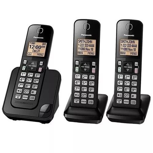Telefone s/ fio panasonic kx-tgc353 1 base + 2 ramais
