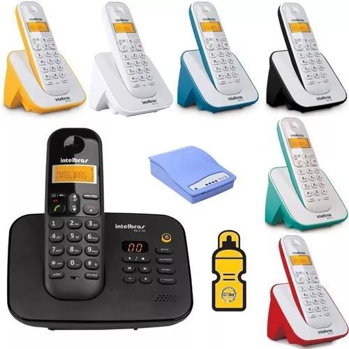 Telefone secretaria eletronica bina entrada chip 3g 6 ramal