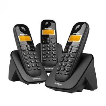 Telefone s/fio c/identificador + 2 ramais ts3113 intelbras