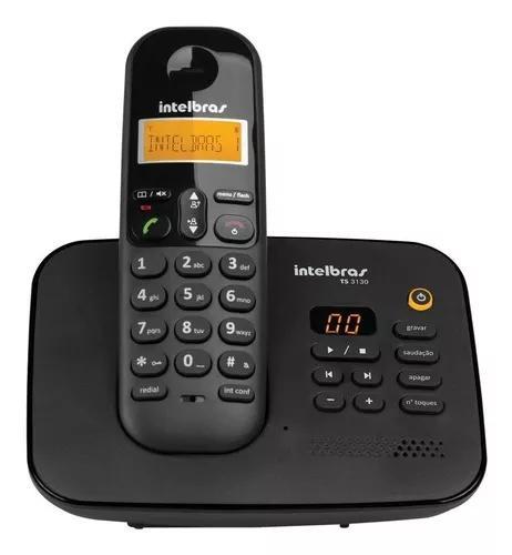 Telefone s/fio com id secretária eletrônica intelbras