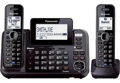 Telefone s/fio panasonic c/ 2 linhas e secretaria eletronica