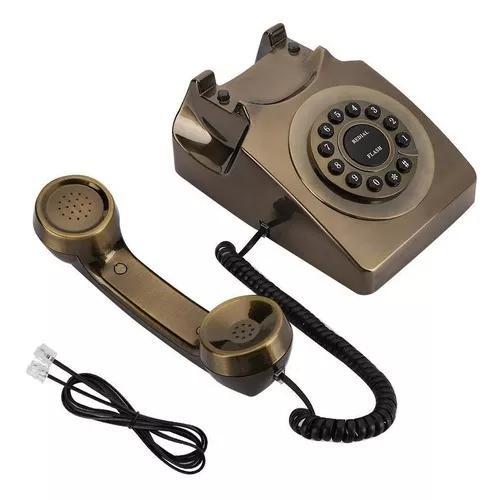 Wx-3123 # antigo bronze telefone fixo telefone desktop calle