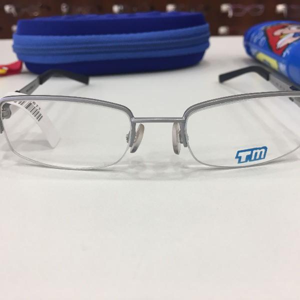 Armação óculos infantil turma mônica 1011 prata