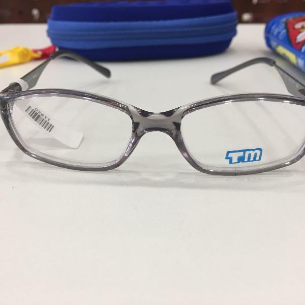 Armação óculos infantil turma mônica 3019 cinza