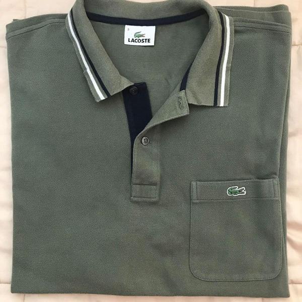 Blusa polo verde musgo lacoste 4xl