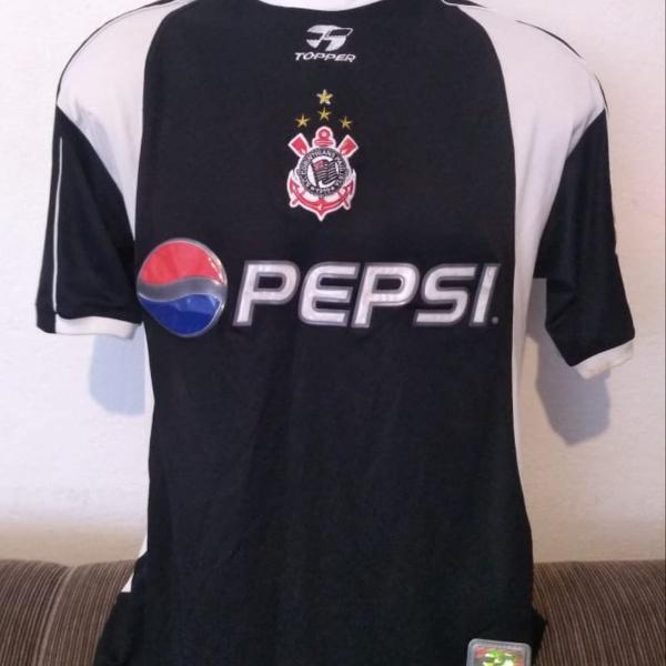 Camisa corinthians 2002 preta ótimo estado (valor