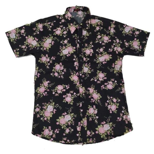 Camisa social floral estampada masculina