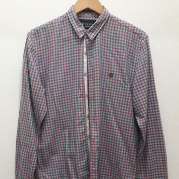 Camisa xadrez tecido 100% algodão mandi
