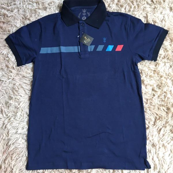 Camiseta masculina polo camisa