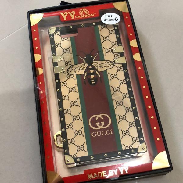 Capa case iphone 6/ 6s gucci com chaveiro
