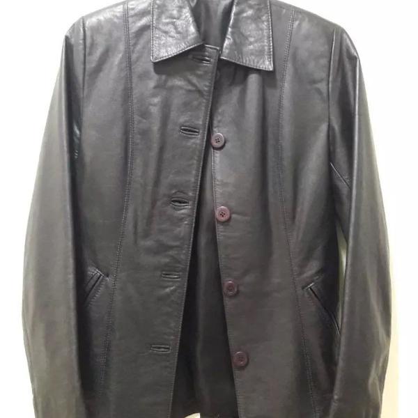 Casaco jaqueta blazer de couro