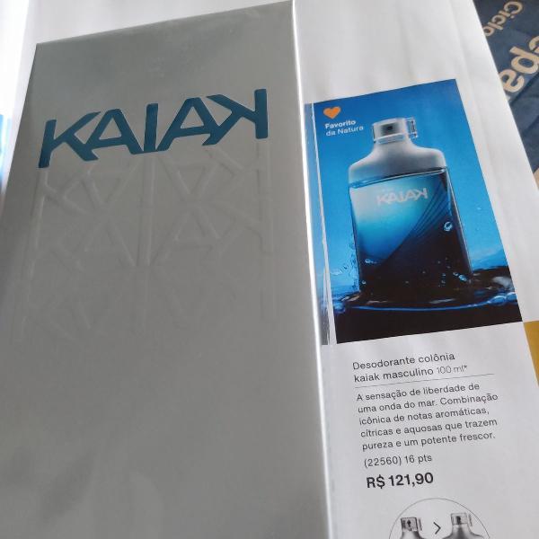 Colônia kaiak masculino e hidratante