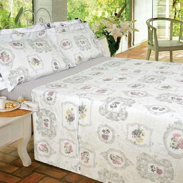 Jogo de cama queen usado + fronhas novas extras