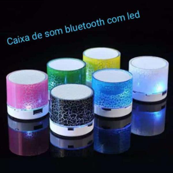 Mini caixa som led bluetooth caixinha mp3 portátil
