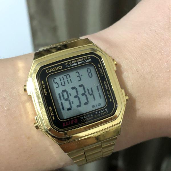 Relógio digital vintage casio unissex