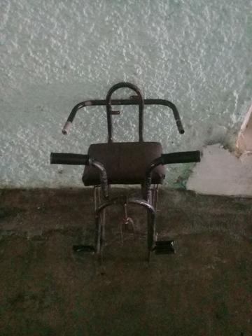 Cadeirinha de bicicleta e banco traseiro/suporte