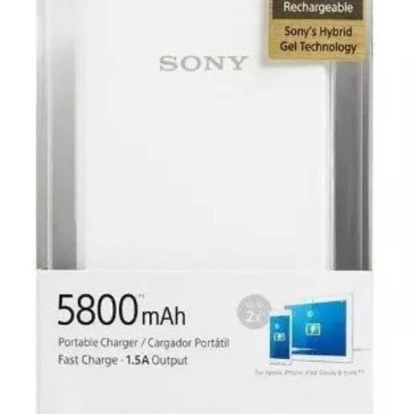 Carregador portátil sony 5800mah original novo na caixa