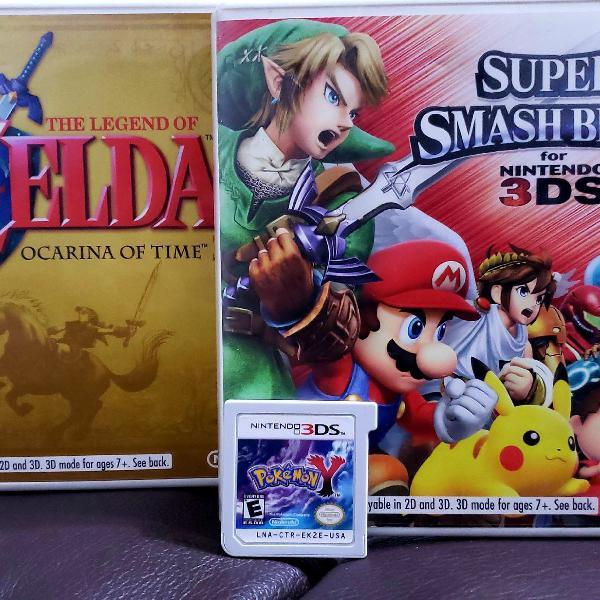 Jogos 3ds - smash zelda pokémon