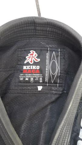Kimono keiko preto para trançado jiu-jitsu (tamanho 4)