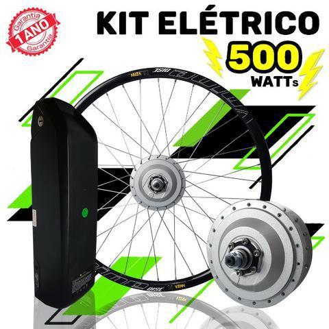 Kit elétrico para bicicletas motor 500w bateria trapézio