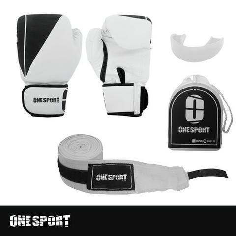Kit luvas boxe/muay thai: top diamante - one sport