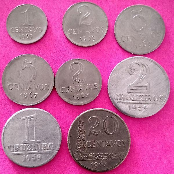 Lote de moedas antigas