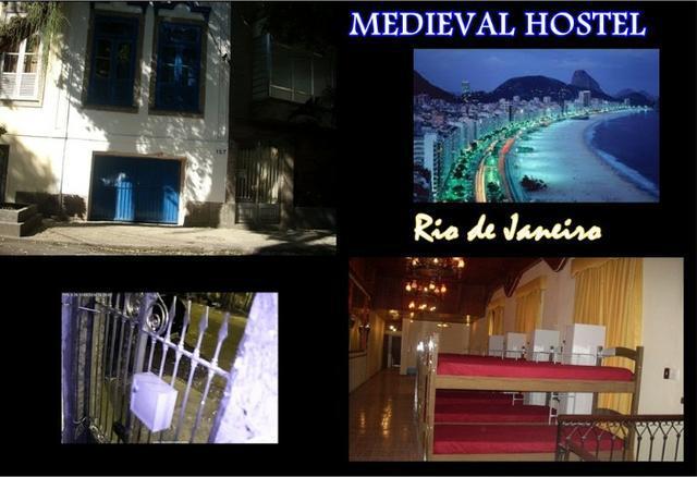 Quarto com vagas no medieval hostel em botafogo