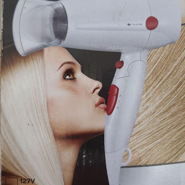 Secador cabelo portatil 1600w novo na caixa