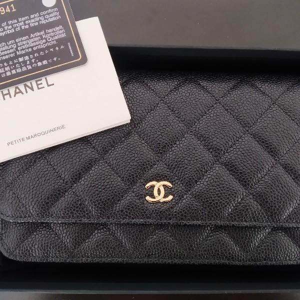 bolsa Chanel Woc couro caviar Original estado de nova!