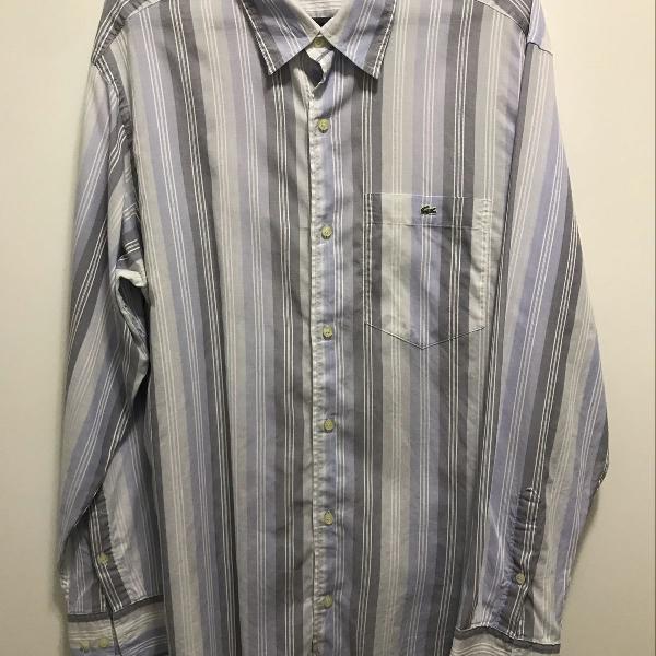Camisa listras azul e cinza