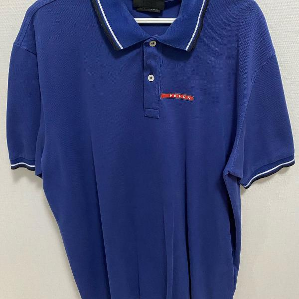 Camisa polo masculina azul escura prada tam xxl