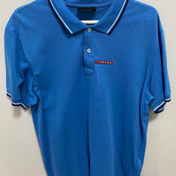 Camisa polo masculina azul prada (original ) tam xxl