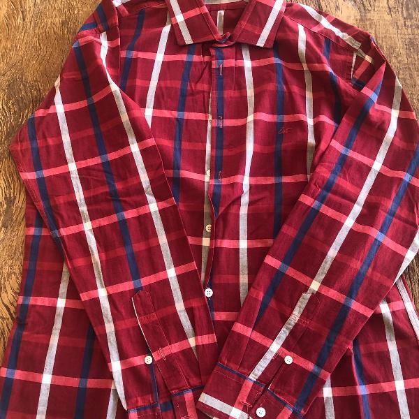 Camisa xadrez vermelha estivanelli