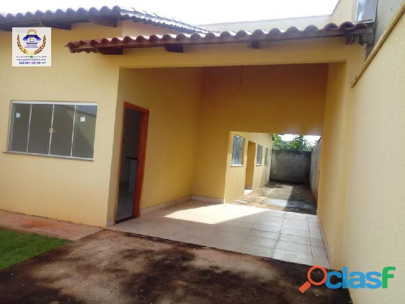 Casa 2 quartos 1 suite, área de 85 m2 em lote de 186 m2 no setor cora coralina