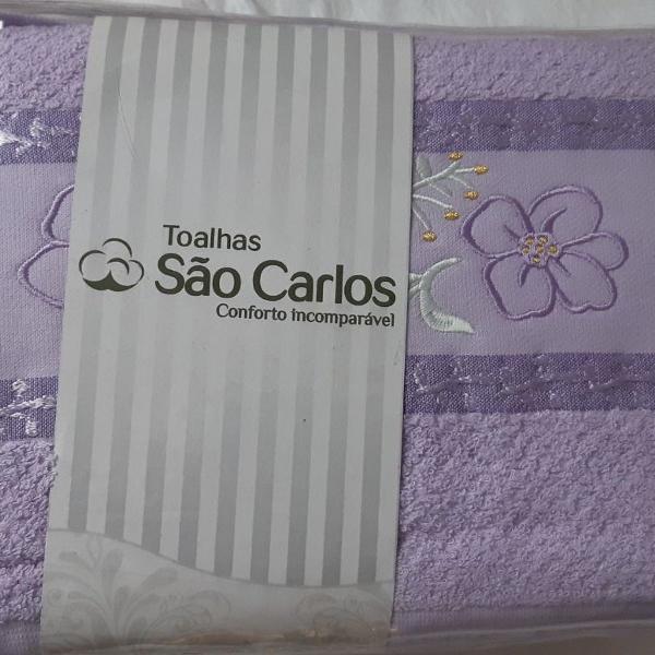 Jogo de toalhas são carlos lilás