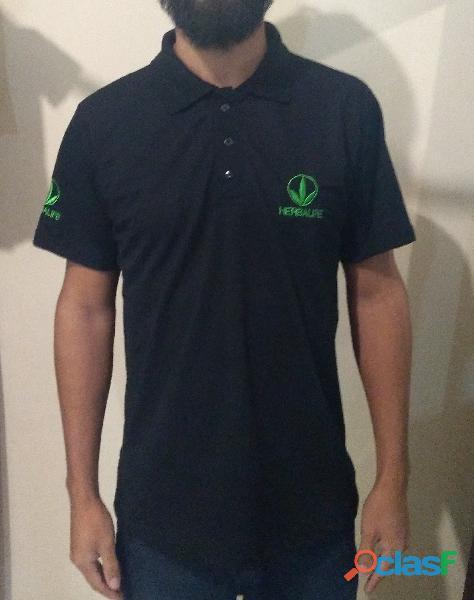 Kit com 10 Camisas polo bordadas   Bordado no peito Grátis 1