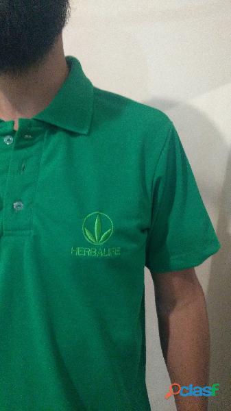 Kit com 10 Camisas polo bordadas   Bordado no peito Grátis 3