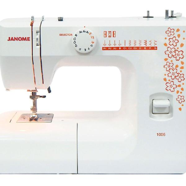 Máquina de costura doméstica reta janome 1006