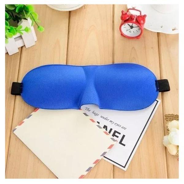 Máscara dormir ajustável tapa olhos 3d relaxar azul