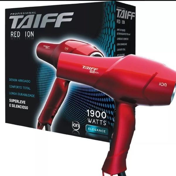 Secador taiff red ion 1900w novo na caixa