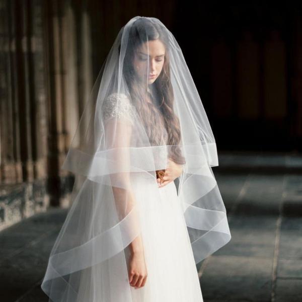 Véu mantilha 3 metros noiva casamento branco romântico